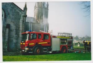 Carrigaline Church, fire, Sunday, 23rd March, 2003 003