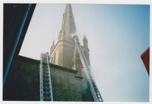 Carrigaline Church, fire, Sunday, 23rd March, 2003 005