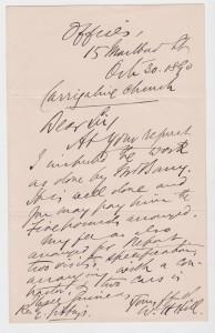 William Henry hill letter